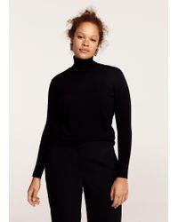 Violeta by Mango - Black Turtleneck Sweater - Lyst
