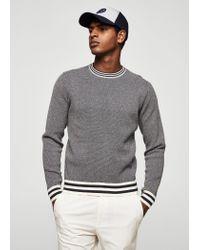Mango   Blue Contrast Trim Sweater for Men   Lyst