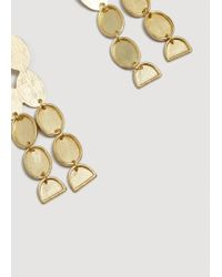 Mango - Metallic Metal Pendant Earrings - Lyst