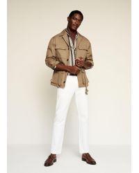 Mango Cotton Safari-style Jacket Medium Brown for men