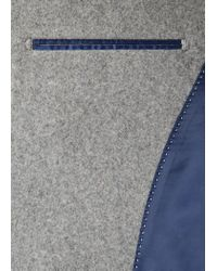 Mango | Gray Wool Funnel Neck Coat for Men | Lyst