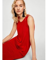 Mango - Long Textured Dress - Lyst