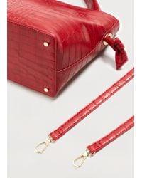 Violeta by Mango - Red Croc-effect Tote Bag - Lyst