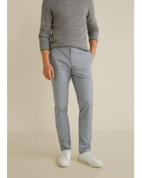 Mango Slim fit twill-chinohose in Gray für Herren