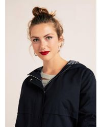 Violeta by Mango Blue Hooded Trench