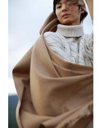 Mansur Gavriel Multicolor Cashmere Winter Scarf - Camel