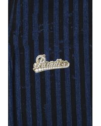 Marc Jacobs   Blue Paradise Pave Nameplate Pin   Lyst