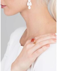 Irene Neuwirth Red Fire Opal And Pink Tourmaline Ring