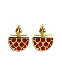 Silvia Furmanovich - Marquetry Red Demi Lune Earrings - Lyst