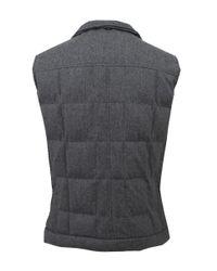 Brunello Cucinelli Gray Men's Flannel Padded Vest for men