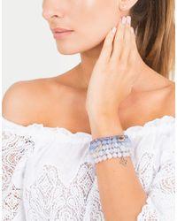 Sydney Evan - Diamond Peace Sign Light Blue Jade Beaded Bracelet - Lyst