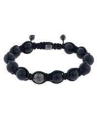 Shamballa Jewels Onyx And Black Ceramic Bead Bracelet