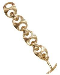 Vaubel Metallic Chunky Ridge Chain Bracelet