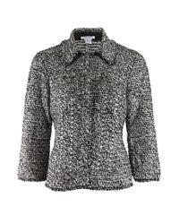 Oscar de la Renta Multicolor Hand Crochet Tweed Jacket