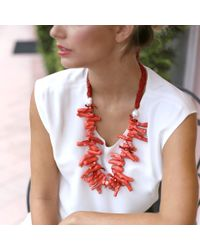 Silvia Furmanovich - Red Coral Branch Necklace - Lyst
