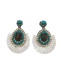 Ranjana Khan | Multicolor Turqoise And Ivory Earrings | Lyst