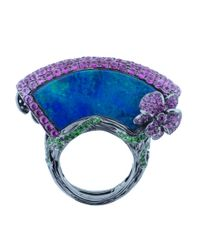 Wendy Yue - Blue Opal Fan Ring - Lyst