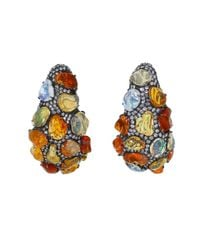 Arunashi | Multicolor Fire Opal And Diamond Earrings | Lyst