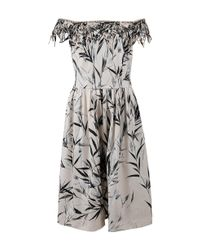 Blumarine - Natural Bamboo Print Dress - Lyst