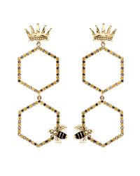 Alison Lou - Metallic Queen Bee Drop Earring - Lyst