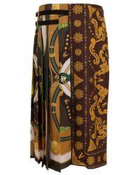 Versace Multicolor Western Rodeo Pleat Skirt