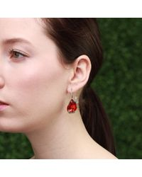 Arunashi - Red Fire Opal Butterfly Earrings - Lyst