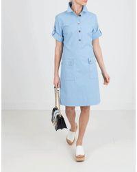 ESCADA - Blue Button Down Dress - Lyst