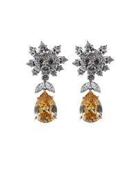 Fantasia Jewelry - Metallic Cluster Pear Shape Drop Earrings - Lyst