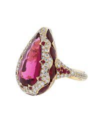Inbar - Multicolor Pear Shape Ring - Lyst