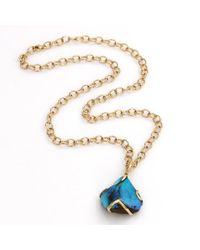 Katherine Jetter Multicolor Boulder Opal Pendant Necklace