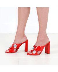 Fendi - Red Flowerland Mule - Lyst