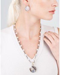 Sylva & Cie - Multicolor Lavender Sapphire Moon Earrings - Lyst