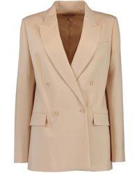 Michael Kors - Natural Double Breasted Blazer - Lyst