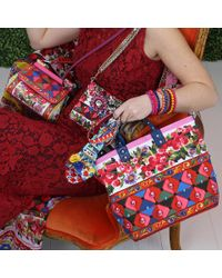 Dolce & Gabbana - Red Rose Print Tote Bag - Lyst