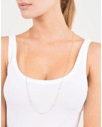 Mizuki | Metallic Gold Bead Wrap Necklace | Lyst