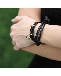 Mizuki - Black Pearl And Diamond Wrap Bracelet/choker - Lyst