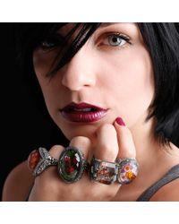 Sevan Biçakci Multicolor Carved Ladybug Ring