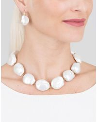 Yvel White Baroque Freshwater Pearl Necklace