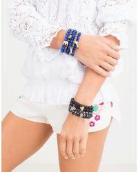 Sydney Evan | Blue Diamond Pave Cross Charm Bracelet | Lyst