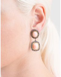 Yossi Harari Multicolor Ella Drop Coral Earrings