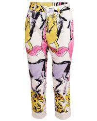 Stella McCartney White Horse Print Jean