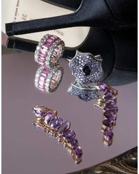 Bayco Multicolor Natural Purple Sapphire Earrings