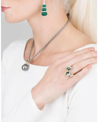 Inbar - Metallic Emerald Bypass Ring - Lyst