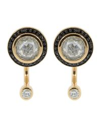 Pamela Love White And Black Diamond Gravitation Earrings