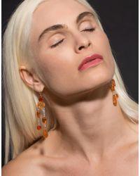 Irene Neuwirth Multicolor Fire Opal Diamond Drop Earrings