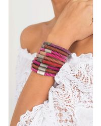 Carolina Bucci - Purple Twister Band Bracelet - Lyst