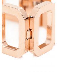 Rebecca - Metallic Elizabeth Square Chunky Bracelet - Lyst