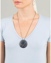Todd Reed - Metallic Diamond X Circle Pendant Necklace - Lyst