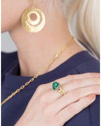 Boaz Kashi - Green Malachite And Pink Tourmaline Ring - Lyst