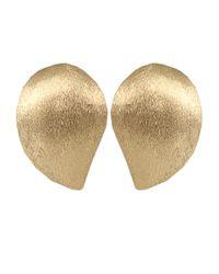 Yvel Metallic Large Handmade 18k Yellow Gold Earrings